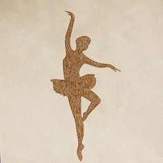 Exclusieve wanddecoratie - 17. Figurative Minimal | Ballerina in gold - O.207-1