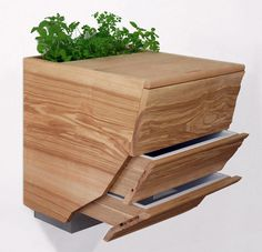 combination vermicomposter, chopping board, and planter