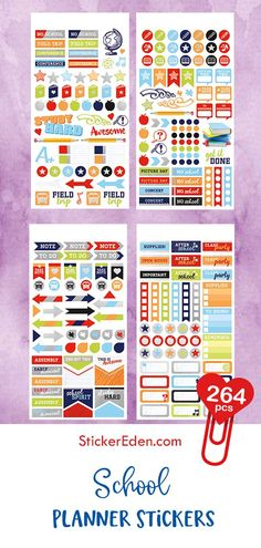 Paper House Planner Stickers Live Bold Life Organised 4 Sheets 285 Pcs
