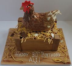Chicken Birthday Cake cakepins.com