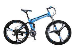Sammenleggbar terrengsykkel G4 - blå - Importpris.no AS Bicycles For Sale, Mountain Biking, Vehicles, Car, Vehicle, Tools