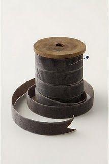 grey velvet ribbon - Traditional Style - Shades of Grey