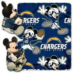 San Diego Chargers Fleece Throw 40 x 50 Disney Hugger Blanket