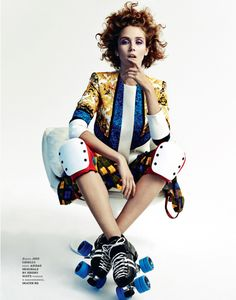 Caitlin Lomax and Ismini Are Roller Girls for Elle Ukraine by Tim Ashton | Fashion Gone Rogue: The Latest in Editorials and Campaigns