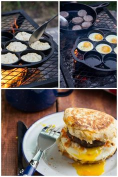Camping dessert recipes are also fun and easy for kids to make, and the whole household takes pleasure in eating them. Have a preferred household outdoor camping dish that the kids like to cook. Easy Campfire Meals, Campfire Breakfast, Breakfast Burger, Campfire Food, Camping Meals, Easy Meals, Campfire Recipes, Family Camping, Camping Hacks
