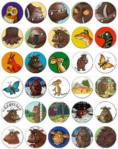 30 x The Gruffalo Party Rice Paper Cup Cake Toppers / Decorations Gruffalo Activities, Gruffalo Party, The Gruffalo, Kids Activity Books, Book Activities, 4th Birthday Parties, 3rd Birthday, Gruffalo's Child, Room On The Broom
