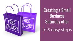 So, you've decided you need an offer for Small Business Saturday. I'm so glad you're