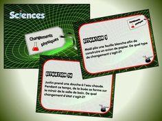 Cette série de cartes à tâches traite des changements physiques de la matière (sciences, univers matériel).  Voici la liste des contenus spécifiques abordés dans ce document : - Les types de changements physiques : les changements de forme, les changements d'état, la préparation et la séparation des mélanges ; - Les différents changements d'état : la solidification, la fusion, l'évaporation, la condensation liquide, la sublimation et la condensation solide.  [...]