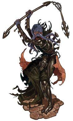 Scorrow Of Sorrow — Illithids of Thoon are unlike most other. Fantasy Races, Fantasy Rpg, Dark Fantasy Art, Fantasy Artwork, Dark Art, O Kraken, Cthulhu Art, D D Races, Creature Picture