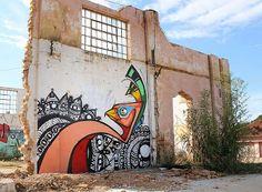 Street art in Brazil by artists Garu and Pda. Photo by Garu.