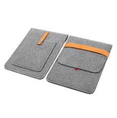 iPad Air Case, iPad Air1 Sleeve, Felt Wool Felt iPad Air 2 Bag Handmade With Italian Thick Leather Strap,Wool Felt  TopHome Design KK