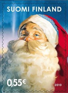 Santa Claus, from Laponia is one of the simbols of Finland. SUOMI is the Finish word for FINLAND and is a slogan for the country. Santa Stamp, Father Christmas, Christmas Eve, First Day Covers, Stamp Collecting, My Stamp, Postage Stamps, Norway, Thing 1