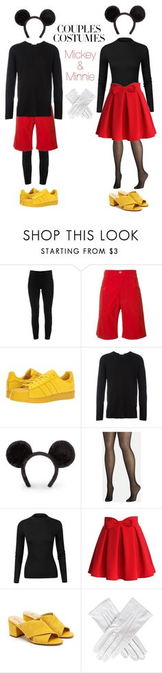 """Mickey and Minnie"" by miriamk2020 ❤ liked on Polyvore featuring Elie Tahari, Julien David, adidas Originals, Avenue, Chicwish, Sam Edelman and Black"