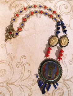 King Tut Egyptian Revival Style 24 Necklace , $50.00 SOLD!
