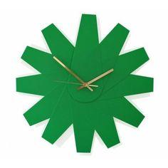 Klickity Fanfare Modern Green Wall Clock Made In Ireland