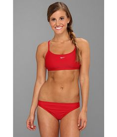Red sports bikini
