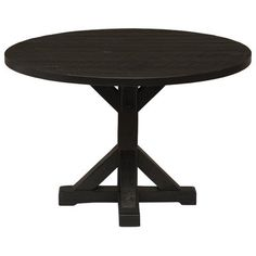 """Fireside Lodge Frontier Pedestal Dining Table Color: Midnight, Size: 30"""" H x 54"""" W x 54"""" D"""