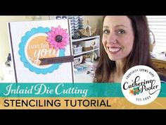 Inlaid Die Cut & Stenciled Homemade Card with Reverse Confetti – Catherine Pooler