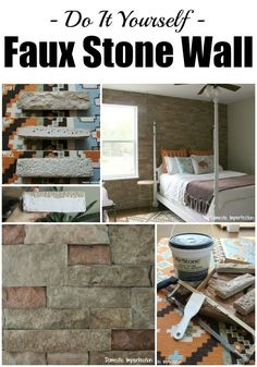 Tutorial on creating a fake rock wall in your home! This has absolutely just moved to the top of the list!!