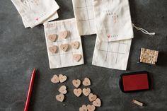 DIY Valentine themed tic tac toe board from @joannagaines_ of Magnolia Market & Fixer Upper.