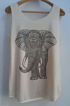 Elephant Art Shirts Tank top Pop Punk Rock Tank by vintageartshirt, $15.00