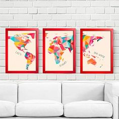 Kit Let's Travel the World - Encadreé Posters