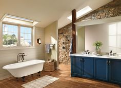 Luxurious Bathroom Decorating Style with White Porcelain Bathtub and Brown Stainless Faucet