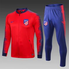 65e09642926 Atletico Madrid 18/19 Red Men Jacket Tracksuit Slim Fit 2 - zorrojersey