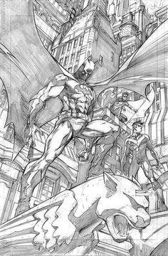 Batman by Yildiray Cinar Batman Drawing, Batman Artwork, Batman Comic Art, Comic Drawing, Batman Comics, Marvel Art, Cartoon Drawings, Gotham Batman, Batman Robin