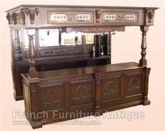 Antique French Victorian Tower Bridge Bar Table