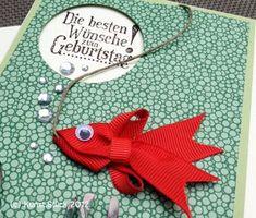 Kunst:Stück: Angler-Geburtstag sehr cooler Fisch aus Schleifenband
