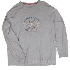e8ea7402b Tommy Hilfiger T-Shirt XXL Vintage Alpine Competitive Skiing 1985 National  Team