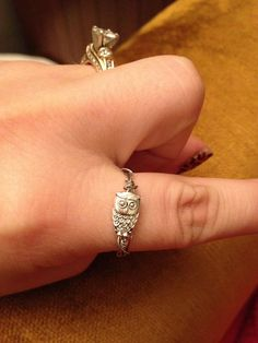 silver plated wire wrap owl ring by saramaslyn on Etsy, $6.50