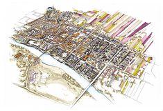 Uniejów, Poland Master Plan Illustration on Behance Master Plan, Poland, City Photo, How To Plan, Illustration, Behance, Illustrations