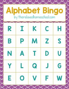 FREE Alphabet Bingo card printable! Download this free printable to help your preschooler and kindergartner practice their letters and letter sounds. Fun alphabet activity! | Homeschooling | Free  Homeschool Printable | Alphabet game