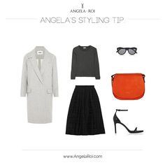 Angela's Style Tip: Morning Orange Cross-body.  Fall Winter 2015