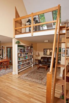 I've always wanted a loft space in my home...ever since I was a little girl.