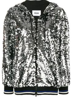 Shop online metallic MSGM sequin hooded jacket as well as new season, new arrivals daily. Pret, Msgm, Hooded Jacket, Hoods, Women Wear, Sequins, Clothes For Women, Long Sleeve, Casual