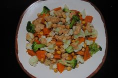 Quinoa, Sweet Potato, and Roasted Chickpea Bowl with Sweet Peanut Dressing