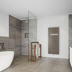 De Deco badkamerradiator bevat kenmerkende stijlelementen zoals de strakke buizen en de tussenstukken bij de opening voor de handdoek. Naast de enkele uitvoering is de Deco ook leverbaar in een dubbele uitvoering, voor extra vermogen.