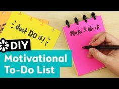 DIY Motivational To Do List Pad | Sea Lemon - YouTube