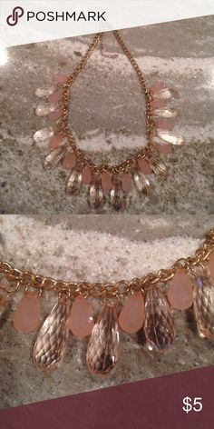 """Tear drop necklace from Windsor Pink tear drop necklace from Windsor.  Gold chain that measures 18"""" with the 3"""" extender. WINDSOR Jewelry Necklaces"""