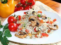 Houbové rizoto s pórkem Food Videos, Foods, Meat, Chicken, Bulgur, Food Food, Food Items, Cubs