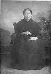 Angelique Jerome-Rolette, Métis; born 1828 in Red River Settlement; married Joseph Rolette 1845; lived at Pembina District, Pembina County, Minnesota Territory, U.S. Source: http://edmerck.tripod.com/merckfamily/jerome/angelique.jpg