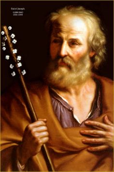 Saint Joseph, foster father of Jesus Catholic Prayers, Catholic Saints, Patron Saints, Roman Catholic, Blessed Mother Mary, Blessed Virgin Mary, St Clare's, Religion Catolica, Mary And Jesus
