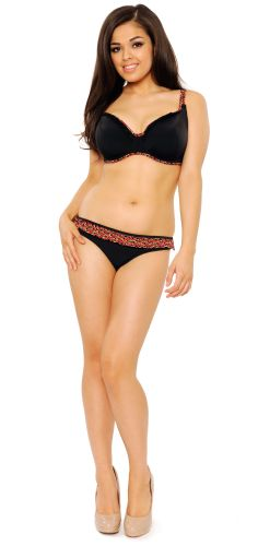 Flirt Black/Flower Print- Curvy Kate Flirt Swimwear