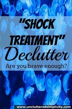 Shock Treatment Declutter? This is extreme! Only 4 steps to a clutter free home. I think I can do this.