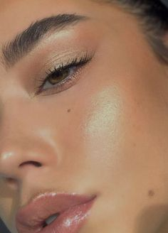 eye cheek highlighter mauve lipgloss