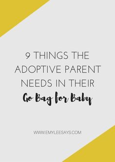 """One of the key steps of nesting is creating your """"go bag"""" for when it's time to… Newborn Adoption, Adoptive Parents, Go Bags, The Fosters, Parenting, Key, Feelings, Sayings, Unique Key"""