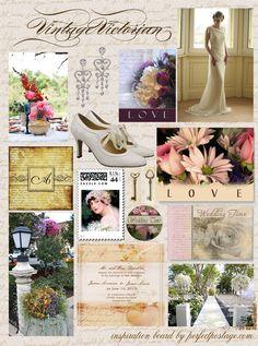 vintage wedding inspiration board ♥  Repinned by Annie @ www.perfectpostage.com